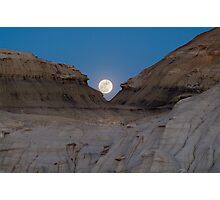 Moonrise in the Bisti Photographic Print