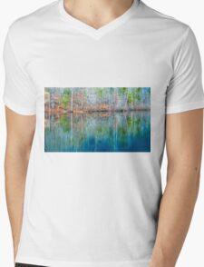 Reflections on  Pinnacle Lake Mens V-Neck T-Shirt