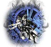 Kuroshitsuji (Black Butler) - Ciel Phantomhive & Sebastian Michaelis 6 by IzayaUke
