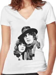 4th Doctor and Sarah-Jane Women's Fitted V-Neck T-Shirt