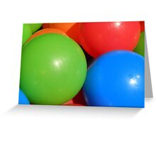 Spheres of colour Greeting Card