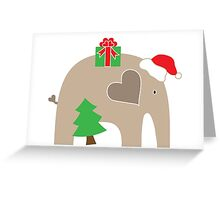 Merry Christmas Elephant Greeting Card