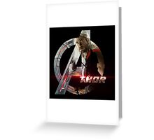 The Mighty Thor The Avengers  Greeting Card