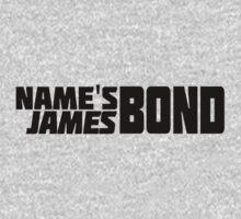 Name's Bond, James Bond (Text Only) Kids Tee