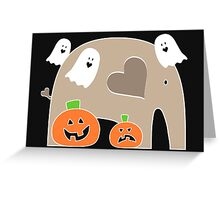 Happy Halloween Elephant Greeting Card