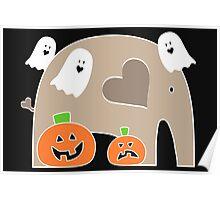 Happy Halloween Elephant Poster