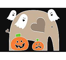 Happy Halloween Elephant Photographic Print