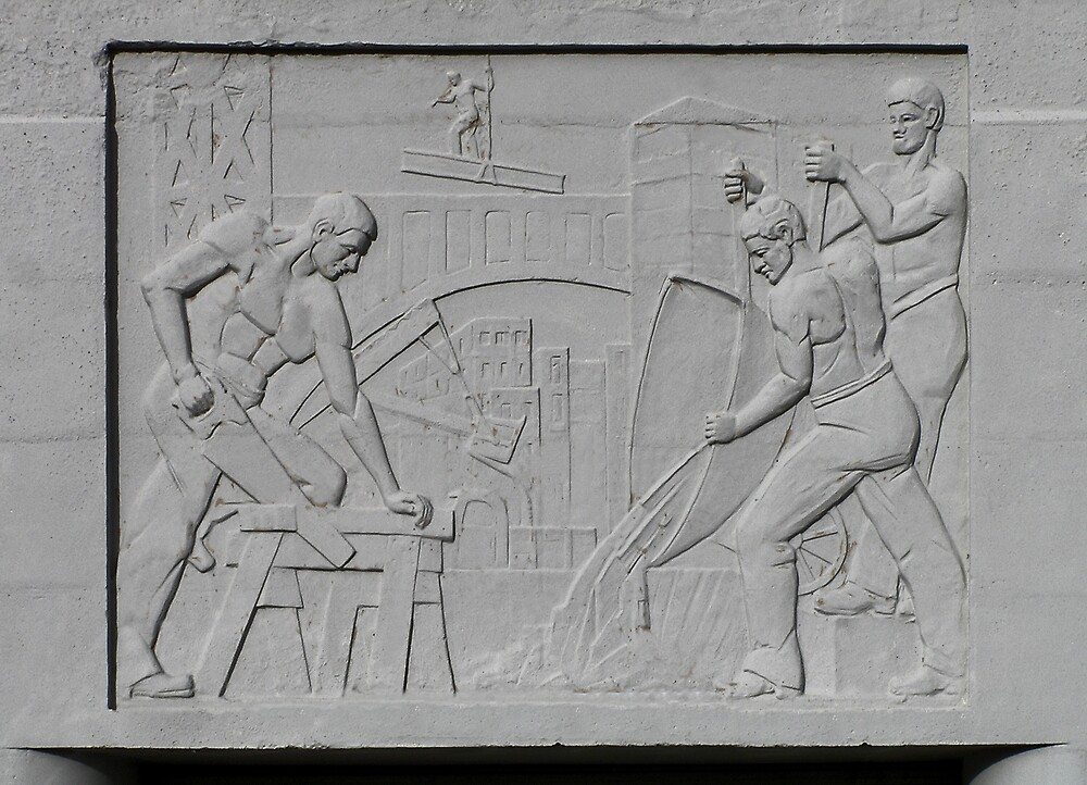 quot deco style bas relief richmond quot by christopher biggs redbubble