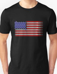 Bike USA Flag Unisex T-Shirt