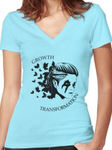 Octavia - The Butterfly Women's Fitted V-Neck T-Shirt