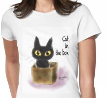 Cat in the box Womens Fitted T-Shirt