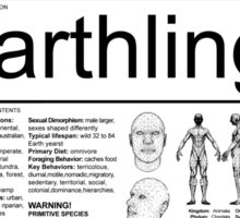 Earthling - Light Sticker