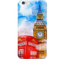 London Dreams - Big Ben & An Iconic Red Telephone Box iPhone Case/Skin