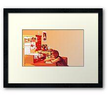 Clutter Framed Print