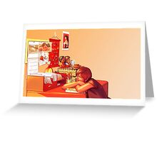Clutter Greeting Card