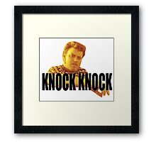 Ricky - Knock Knock Framed Print