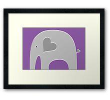 Purple Elephant Framed Print