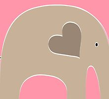 Safari Elephant - Pink by Elephant Love