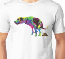 PSYCHEDLIC DOG POOPING Unisex T-Shirt