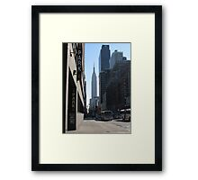 Unknown Street with a World Famous Backdrop Framed Print