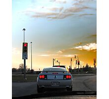 Simon Says.. STOP when the Lights are Red!! Photographic Print