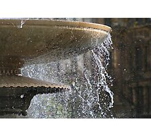 Fountains in Trafalgar Square - A New Perspective. Photographic Print