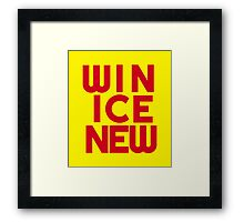Win Ice New – Two Framed Print