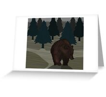 Lonely Bear in the Woods Greeting Card
