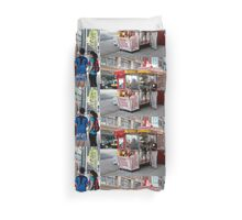The Hot Dog Stand Duvet Cover