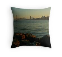 The Bay Bridge Throw Pillow