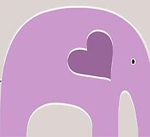 Lavender Elephant by Elephant Love