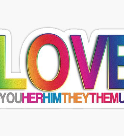 i LOVE ALL Sticker