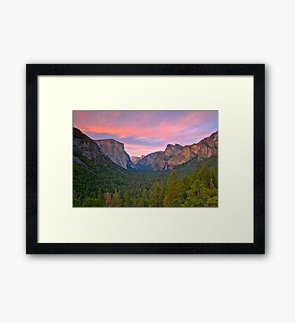 Yosemite Valley Spring Framed Print