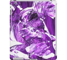 Purple and White Abstract Design  iPad Case/Skin