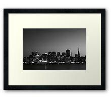 Black and White City Framed Print