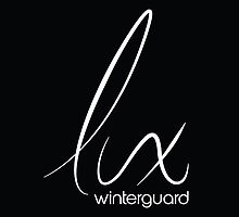 Lux Winterguard Products - White on Black logo by RiverCityRhythm