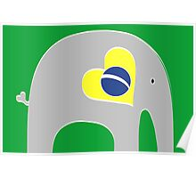 Brazilian Elephant Poster