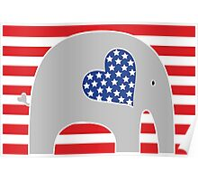 All American Elephant Poster