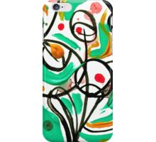 Colorful Abstract Tree Design, Calligraphic Art  iPhone Case/Skin