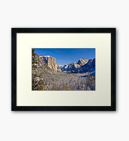 Yosemite Valley Winter Framed Print