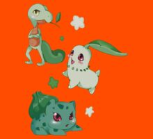 Pokemon Grass starters  Kids Clothes