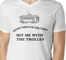 Trolley Problem Mens V-Neck T-Shirt