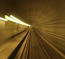 motion blur on rail track by Ricardo Esplana Babor