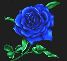 Blue Rose Mother's Day Card by Brinjen