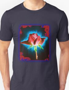 Rose on Black Unisex T-Shirt