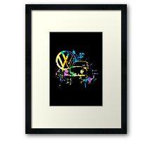 Volkswagen Beetle Splash Framed Print