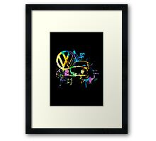 Volkswagen Beetle Splash © Framed Print