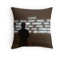 art admiring art Throw Pillow