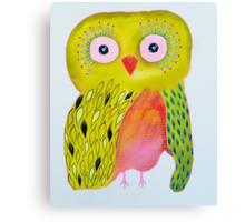 Quirky Yellow Owl Canvas Print