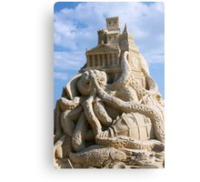 Sand Sculpture ~ a Tribute to Jules Verne Metal Print